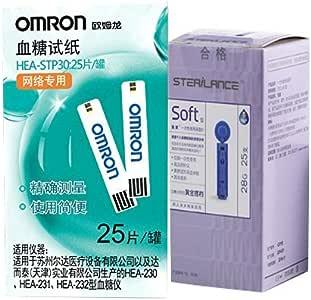 omron欧姆龙血糖试纸HEA-STP30(含25片试纸+25条采血针)(医)(特卖)(新老包装 随机发货)