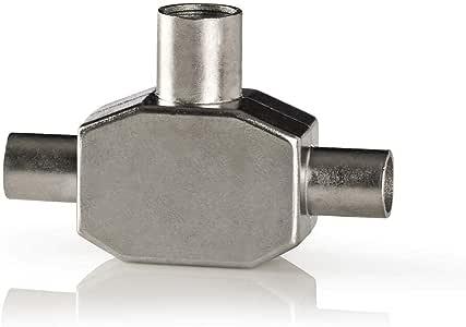 Nedis CSBW40950WT 同轴适配器 | 2X IEC (同轴)插头 - IEC (同轴)插座