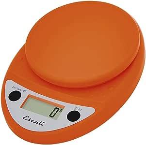 Escali Primo Precision 厨房食品秤,适用于烘焙和烹饪,轻巧耐用,LCD 数字显示屏,终身保修 南瓜橙色 11 lb Capacity P115PO
