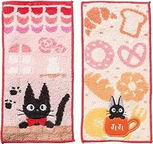 丸真 口袋毛巾 2条装 幼儿园 托儿所用 毛巾手帕 棉* 吉卜力工作室 魔女宅急便 吉吉 10×20cm 1035007600