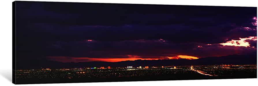 iCanvasART PIM268-1PC3 Storm, Las Vegas, Nevada, USA Canvas Print by Panoramic Images, 0.75 by 36 by 12-Inch