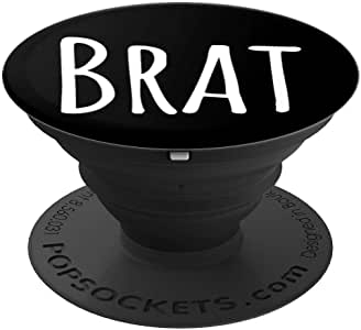 Brat DDLG Dom Phone Grips PopSockets 手机和平板电脑握架260027  黑色