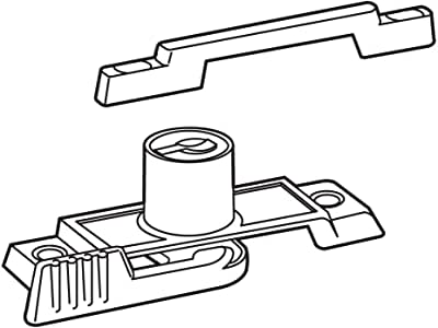 Prime-Line U 9933 钥匙扣带锁,5.72 cm 孔中心,镀锌压铸,白色表面