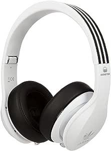 Monster 魔声 阿迪达斯Adidas 三叶草系列 头戴式音乐运动耳机 线控带麦 超强低音 防水防汗 白色 #128555