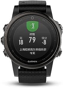 GARMIN佳明fenix5S蓝宝石镜面国行中文版黑色多功能光电心率GPS手表运动户外登山骑行游泳跑步智能腕表