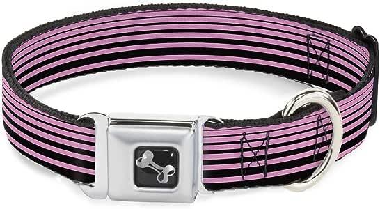粉色黑色水平条纹趣味动物*带宠物项圈 五彩 Wide Small
