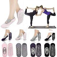 女士瑜伽袜 4 双 防滑抓地力瑜伽袜 普拉提杆 比基尼 适合女士瑜伽礼物