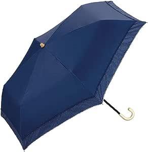 w.p.c 折叠晴雨伞 遮光 圆点锯齿花边50cm 801-628