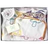 Hoppetta champignon 6层纱布睡袋+夹子&手帕 礼品盒套装18111034