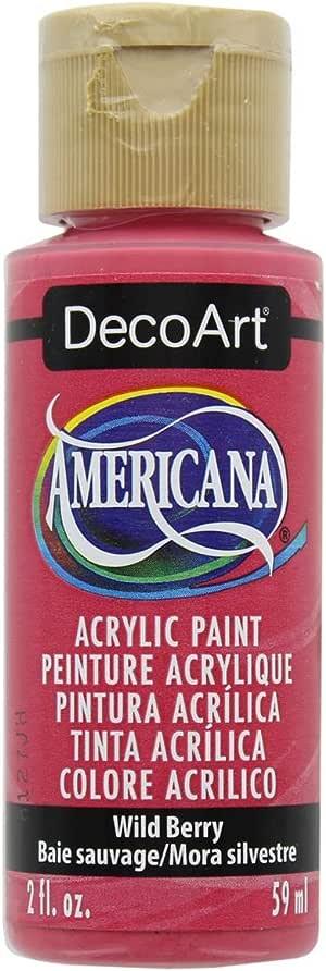 DecoArt 美国亚克力颜料,2盎司,桑蚕 Wild Berry 12010362