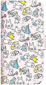 Mitas 智能手机壳 手账型 *不好猫 vol.13SC-4113-PK/KYL22  14_DIGNO M (KYL22) 粉色