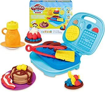 Play-Doh 厨房系列 旋转甜点制造机 小麦粉黏土 E0102 正品 あさごはんセット