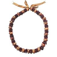 零重力夏威夷珠宝羊眼泪木坚果木种子花环项链