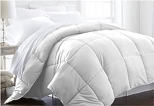 ienjoy 家居系列高级豪华羽绒纤维被子 白色 加州King size IEH-COMFORTER-KING-WHITE