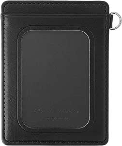 卡套 双面窗 上班 上学 入学 新鲜 礼物 WDM 合成皮革 WDM-1801 防滑 黑色