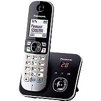 Panasonic 松下 KX-TG6821GB DECT 无线电话 4.6 厘米 1.8 英寸 图像显示 应答装置 黑…