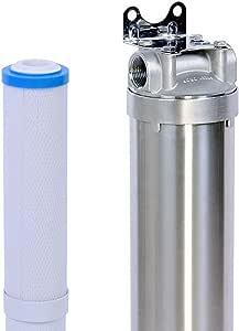Hansing Whole House 软化剂系统替代品 - 除水器,重型硬水过滤器,用于加热器,淋浴头,洗碗机,厨房水槽和洗衣 银色 HSFP-20IN-1