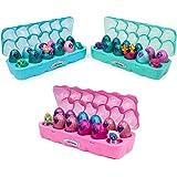 Hatchimals 6047215 - CollEGGtibles Schmuckkästchen 12-er Pack Eierkarton in Pink, Blau oder Türkis