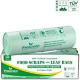 ProGreen * 可堆肥袋 2.6 加仑,超厚 0.71 Mil,小堆肥厨房垃圾袋,食品废料垃圾袋,可生物降解 AS…