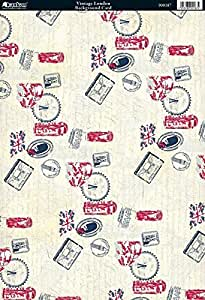 Kanban Vintage London 印花烫褶背景卡,10 张装 KN900187