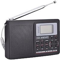 Bewinner AM FM便携式收音机迷你口袋收音机FM/AM/SW/LW/电视声音全频接收器接收收音机闹钟9 KHz…