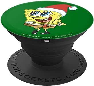 海绵宝宝正方形裤圣诞帽*圣诞款波纹袜手机和平板电脑抓握支架260027  黑色
