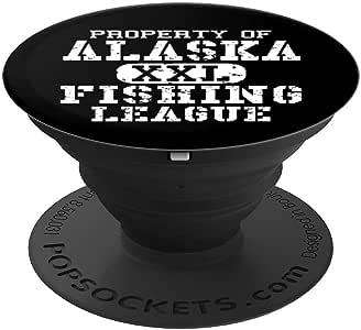 钓鱼联赛礼物 - 阿拉斯加渔夫联盟 PopSockets 手机和平板电脑握架260027  黑色