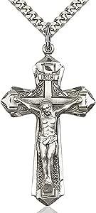 Heartland 男式标准纯银质感十字架吊坠 + *高品质美国制造