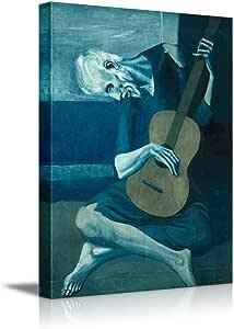 "wall26 旧吉他家 Pablo Picasso 设计 World Famous 16"" x 24"" CVS-FP-0118-24x16x1.50@FBA"