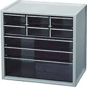 IRIS OHYAMA 爱丽思欧雅玛 小物件收纳柜 幅30.8×奥行21×高さ29cm 浅灰色