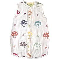 日本Hoppetta 宝宝6层透气纱布 四季通用空调被 蘑菇图案 (日本亚马逊款)