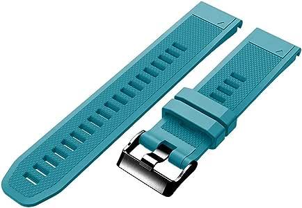 Pananas 软硅胶运动表带,快速释放,兼容Garmin 佳明 Fenix 5 / Fenix 5 Plus/Forerunner 935 / Forerunner 945,22 毫米替换表带