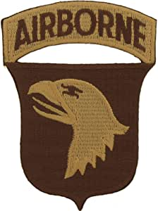 美国* 101st Airborne 刺绣补丁,附熨烫粘合剂 101st Sand AO-USMilitaryPatches