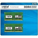 CFD 贩卖 笔记本PC内存 PC4-21300(DDR4-2666) 260pin (保质期)(Crucial by Micron) W4N2666CM-8GB DDR4 8GB×2枚