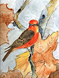 Bird - Verimillion Flycatcher Flag 多色 小号