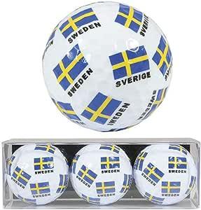 Ola Nesje 瑞典国旗高尔夫球,3 只装