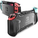 mumba 适用于Nintendo Switch 的固定盒,[Blade系列] TPU防摔保护盖盒,兼容Nintendo Switch控制台和Joy-Con控制器(黑色)