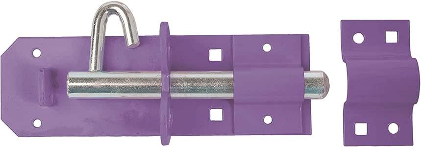 Perry Equestrian 1A-PP0150PU 150 毫米 6 英寸 *A/PP Heavy Brenton Padlock Bolts - 预先包装,紫色