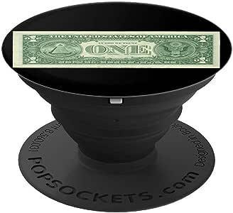 黑色背景采用美元纸币。 - PopSockets 手机和平板电脑握把支架260027  黑色