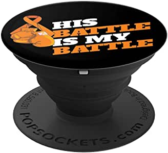 Leukemia 血*宣传橙色丝带拳击手套冰袜手机和平板电脑抓握支架260027  黑色