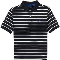 Nautica 男童短袖条纹 POLY POLO 衫
