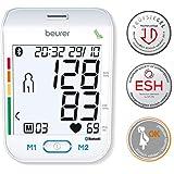Beurer BM 77 蓝牙上臂*监测仪白色 < 数字*和脉冲监控器,带*应用程序