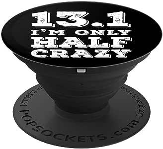 Half Crazy - 半马拉松赛跑 PopSockets 手机和平板电脑握架260027  黑色