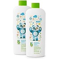 BabyGanics 甘尼克宝贝 无酒精泡沫洗手液补充装,不含香料,16盎司/473毫升瓶装(2件装)