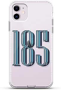 数字:大胆现代字体 185 号   豪华空气系列透明手机壳带 3D 打印设计和气垫适用于 iPhone 11R