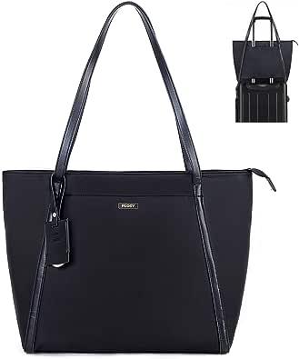 FLOSY 女式电脑笔记本电脑公文包手提包 | 适合 15.6 英寸笔记本电脑 | 防水 | RFID 钱包口袋 | 大号 | 包含旅行标签