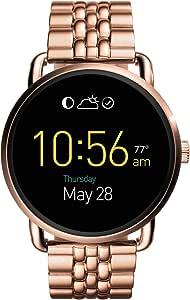 Fossil Q Wander Gen 2 玫瑰金不锈钢触摸屏智能手表 FTW2112