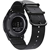 Galaxy 手表腕带 46mm / Gear S3,Fintie 软编织尼龙 22mm 表带可调节替换运动表带带金属扣适用于三星 Galaxy 手表 46mm / Gear S3 Classic FrontierAOWE032US