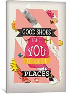 iCanvasART ICA616 Good Shoes 2 Canvas Print, 18-Inch by 12-Inch, 0.75-Inch Deep