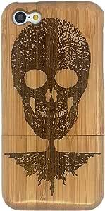 独特环保*** 手工制作的 REAL 天然木材/竹硬壳保护套适用于 iphone 5°C tree